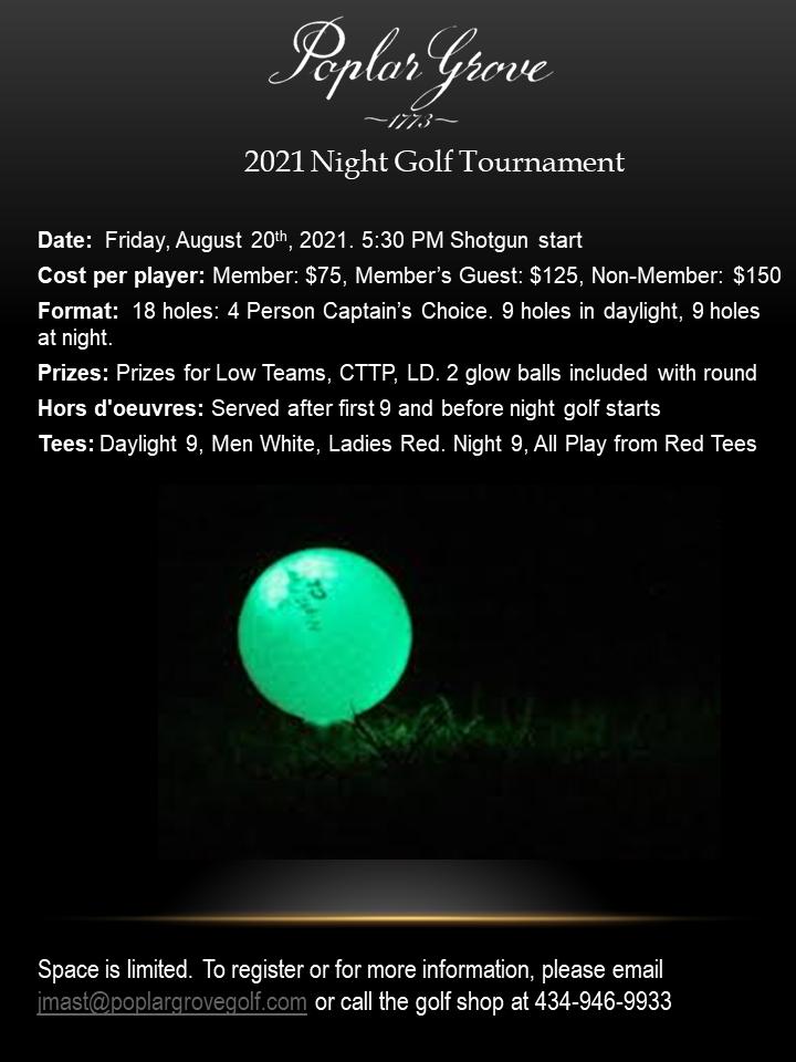 Night Golf Flier 2021